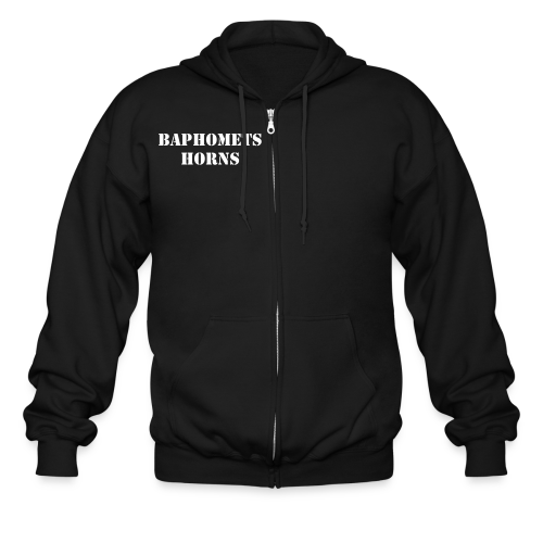 Baphomets Horns - Perpetrators of Genocide    - Men's Zip Hoodie