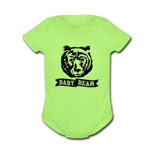 Baby Bear Baby Bodysuits - Short Sleeve Baby Bodysuit
