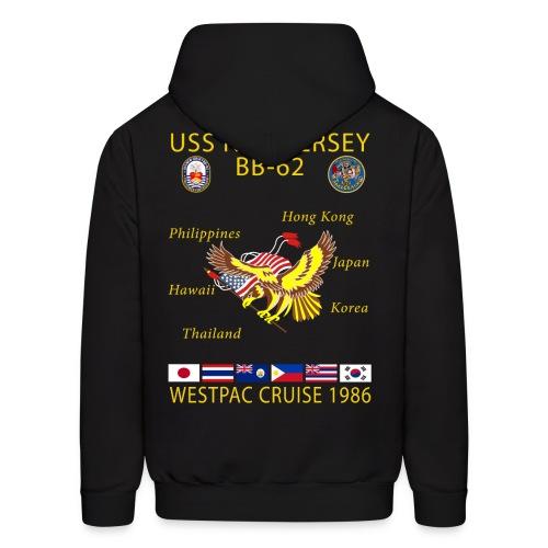 USS NEW JERSEY 1986 CRUISE HOODIE - Men's Hoodie