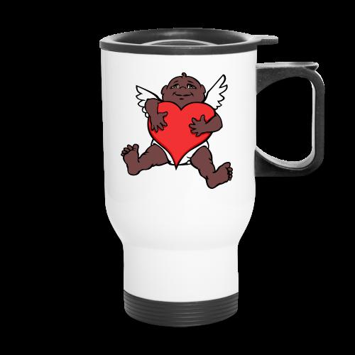 Valentine's Travel Cup African Cupid Love Mug  - Travel Mug