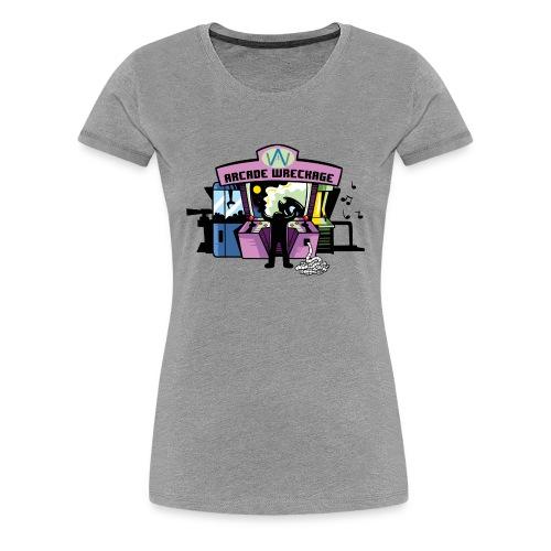 Women's ArcadeWreckage T-Shirt (Bigger sizes) - Women's Premium T-Shirt