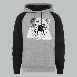 English Bulldog - Men's - Colorblock Hoodie