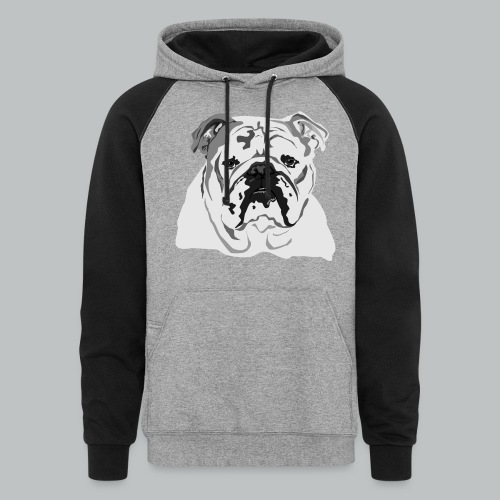English Bulldog - Men's - Colorblock Hoodie