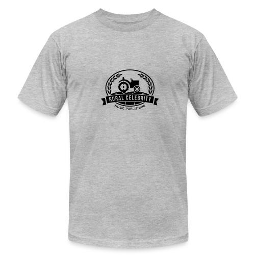 Official Rural Celebrity Music Publishing T Shirt-Heather Grey  - Men's Fine Jersey T-Shirt