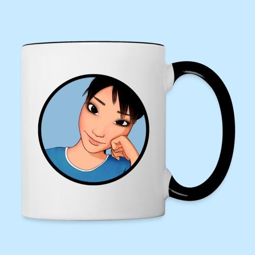 Cheek Mug - Triple Sided (Color Trim) - Contrast Coffee Mug
