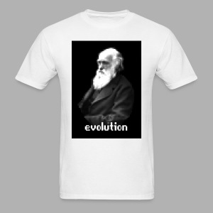 Darwin Evolution Pixels - Men's T-Shirt