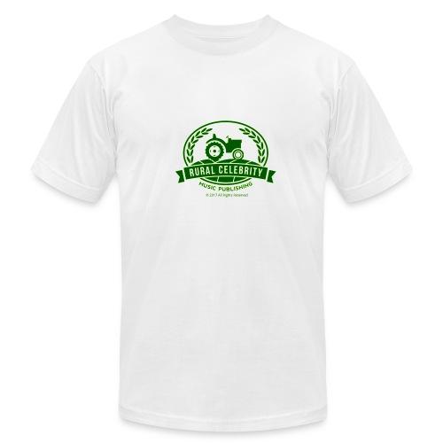 Official Rural Celebrity Music Publishing T Shirt -White - Men's Fine Jersey T-Shirt