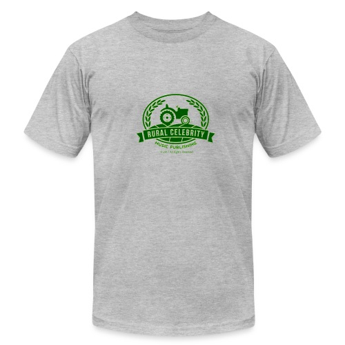 Official Rural Celebrity Music Publishing T Shirt-Green & Grey - Men's Fine Jersey T-Shirt