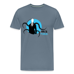 Men's Slender Man's Fake! - Men's Premium T-Shirt