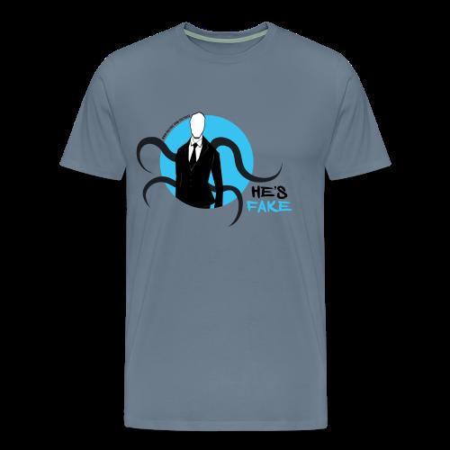 Men's Slender Man's Fake! - Men's Premium T-Shirt