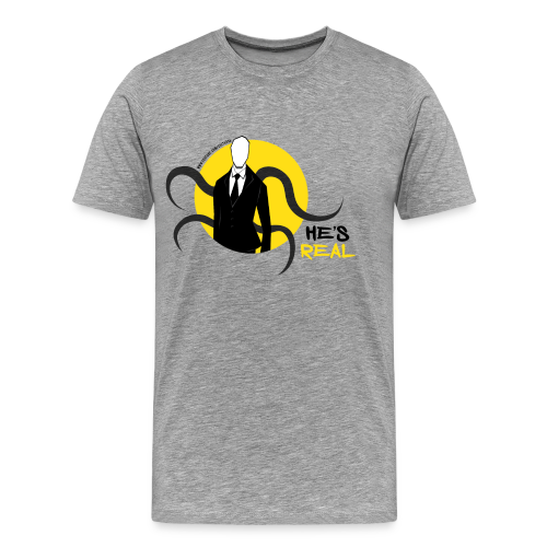 Men's Slender Man's Real! - Men's Premium T-Shirt