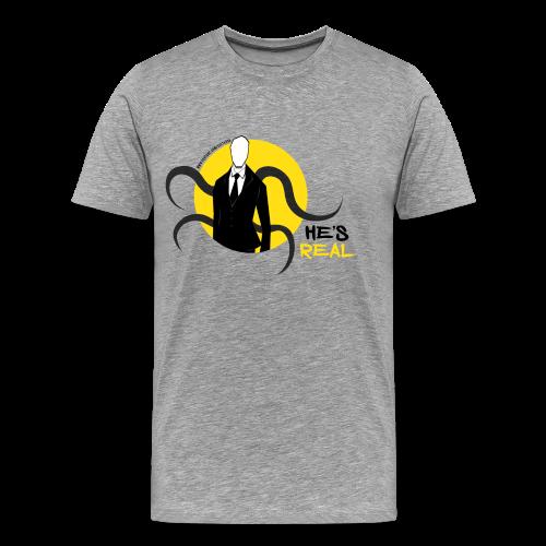 Men's Slender Man's Real! - Men's Premium T-Shirt