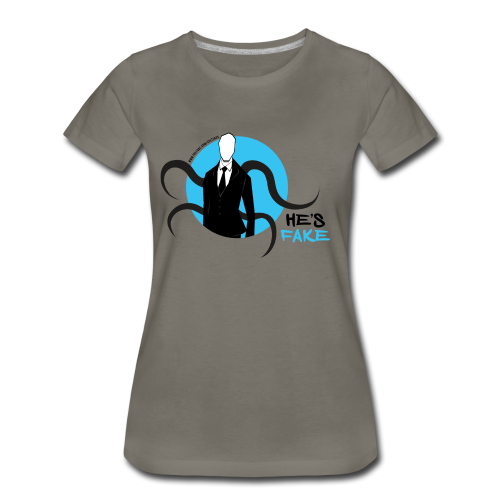 Women's Slender Man's Fake! - Women's Premium T-Shirt