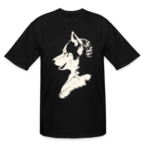 Husky Pup  Men's Tall T-shirts Siberian Husky Plus Size Shirts - Men's Tall T-Shirt