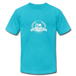 Official Rural Celebrity Music Publishing Logo T Shirt- Turq and white - Men's Fine Jersey T-Shirt