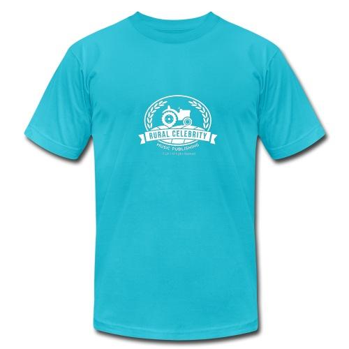 Official Rural Celebrity Music Publishing Logo T Shirt- Turq and white - Men's  Jersey T-Shirt