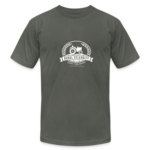 Official Rural Celebrity Music Publishing Logo T Shirt-Slate and White - Men's  Jersey T-Shirt