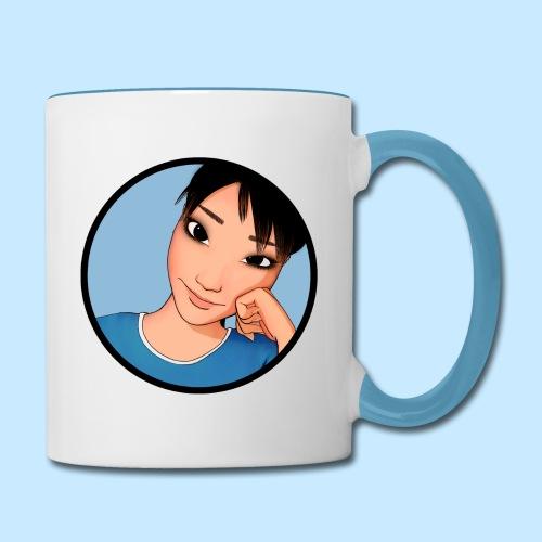Cheek Mug - Double Sided (Color Trim) - Contrast Coffee Mug