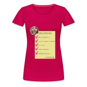 Daily Checklist by TS Madison - Women's Premium T-Shirt