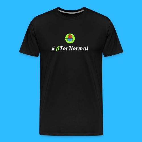 A For Normal + Brain Strain - Men's Premium T-Shirt