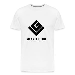 Vybes Men's T-Shirt (White) - Men's Premium T-Shirt