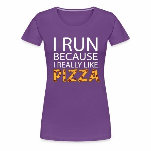 Women's Pizza Run - Women's Premium T-Shirt
