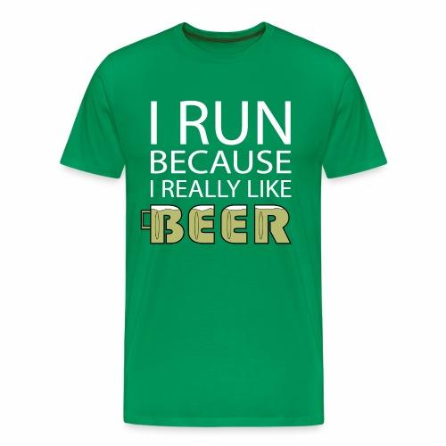 Men's Beer Run - Men's Premium T-Shirt