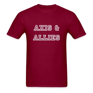 Axis & Allies Text Tee - College Text - Men's T-Shirt