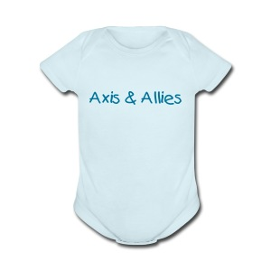 Axis & Allies Baby One Piece with Kid Text - Short Sleeve Baby Bodysuit