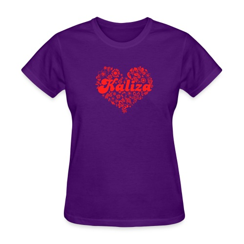 Women: Kaliza Love: Red (American Apparel) - Women's T-Shirt