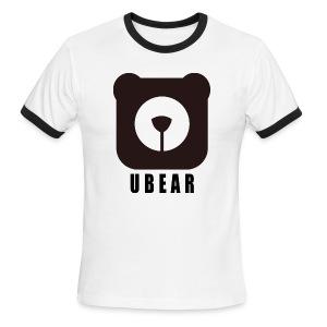 Men's Ringer T-Shirt - uber,uBear,scruff,gaybear,gay bears,gay bear,gay,cub,bears,bearpride,bearded,bear pride,bear gay,bear,LGBT