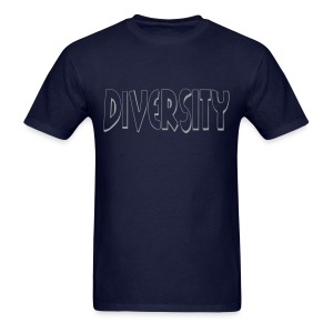 Diversity (Silver Outline) - Men's T-Shirt