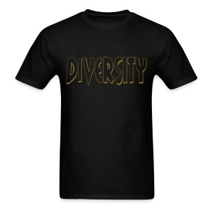 Diversity (Gold Outline) - Men's T-Shirt