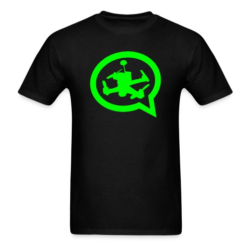 Men's Official Quad Talk Podcast T-shirt-Black - Men's T-Shirt