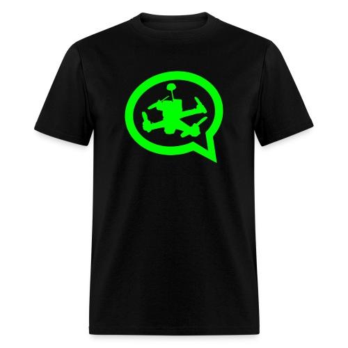 Men's Official Quad Talk Podcast T-shirt-Black - Men's T-Shirt