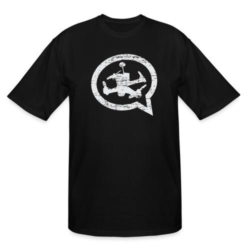 Quad Talk Distressed T-shirt Tall - Men's Tall T-Shirt