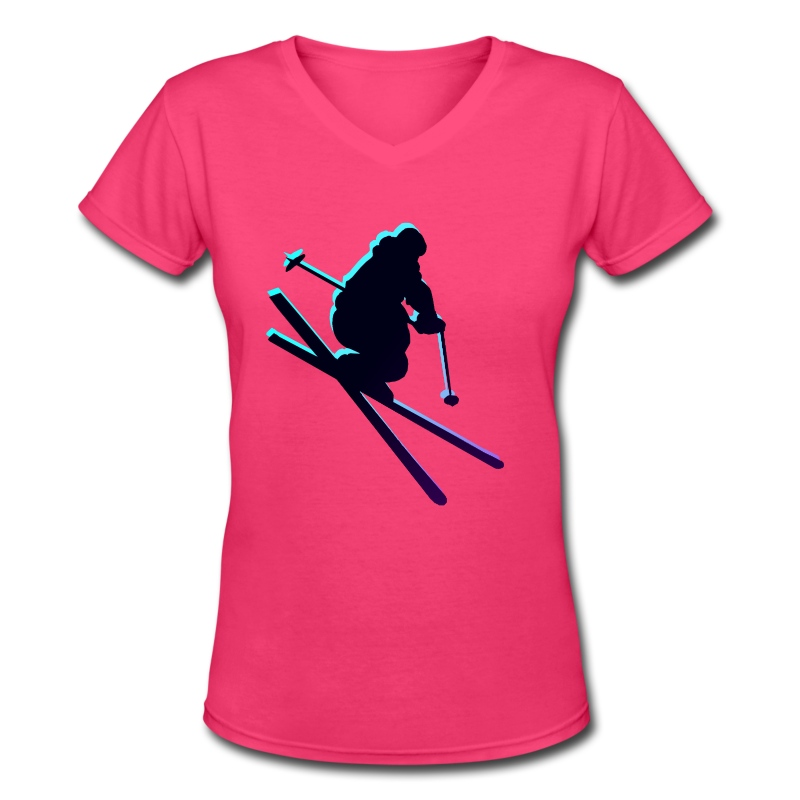 SKI~ - Women's V-Neck T-Shirt
