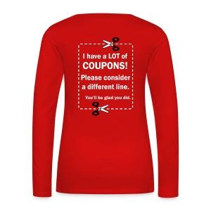Women's Long Sleeve - Up to 3X - Women's Premium Long Sleeve T-Shirt