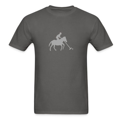 Polo Player in Silhouette - Men's T-Shirt