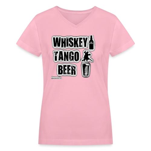 Whiskey Tango Beer Women's V-Neck T-Shirt - Women's V-Neck T-Shirt