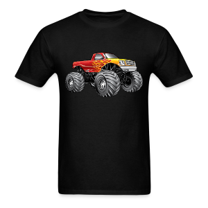 Blazing Fire Monster Truck - Men's T-Shirt
