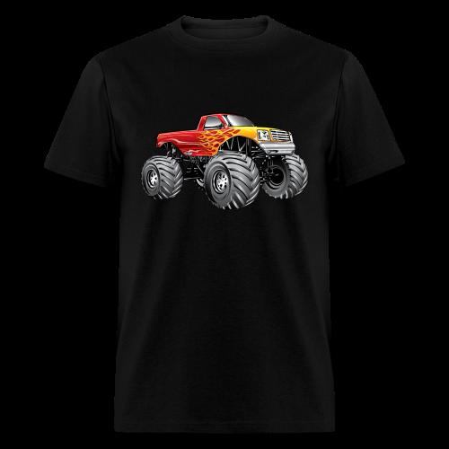 Blazing Fire Monster Truck - Men's T-Shirt
