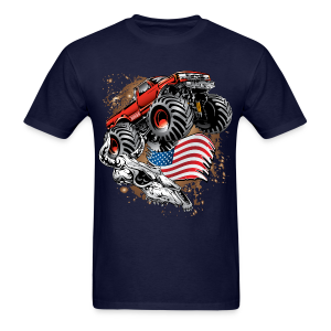 Monster Truck USA Skull - Men's T-Shirt