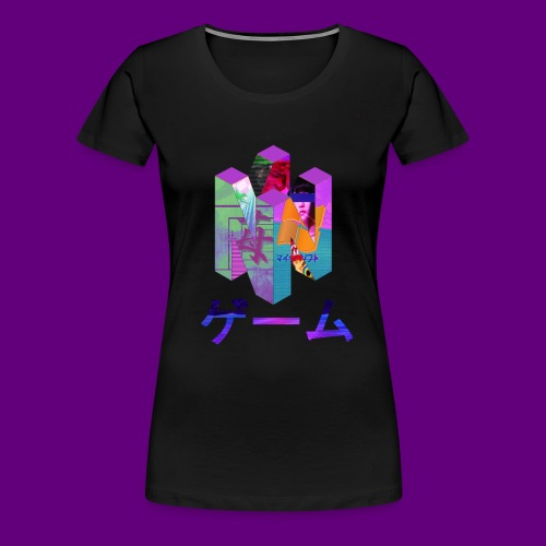 Nintendo 64 Vaporwave Art - Women's Premium T-Shirt