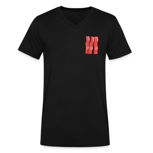 Bacon - Men's V-Neck T-Shirt by Canvas