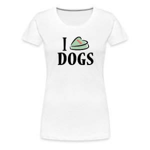 I Heart Dogs (feeds 14 shelter dogs) - Women's Premium T-Shirt