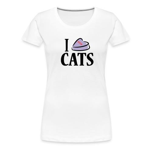 I Heart Cats (feeds 14 shelter cats) - Women's Premium T-Shirt