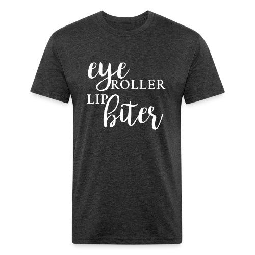 EyeRollerLipBiter Unisex T-Shirt | Dark Heather - Fitted Cotton/Poly T-Shirt by Next Level