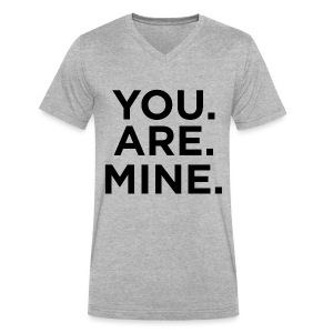 You.Are.Mine Unisex V-Neck | Heather Gray - Men's V-Neck T-Shirt by Canvas
