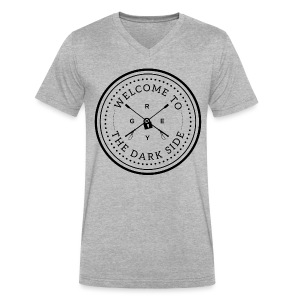 Welcome to the Darkside Unisex V-Neck | Heather Gray - Men's V-Neck T-Shirt by Canvas
